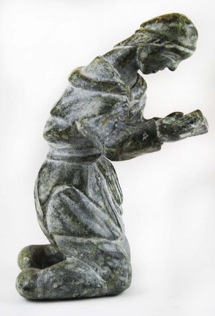 mid 20th c Inuit soapstone carving