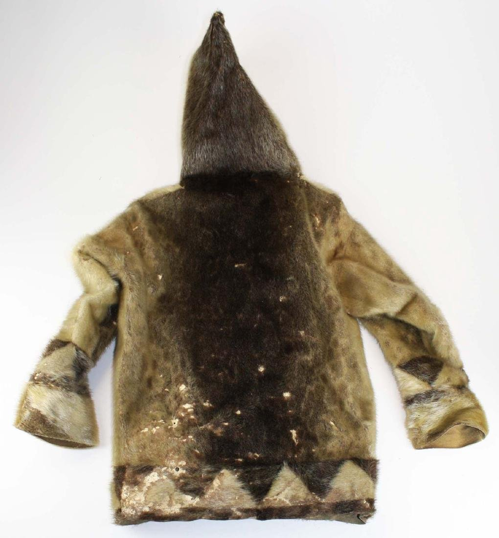 early 20th c Inuit child's sealskin parka - 2