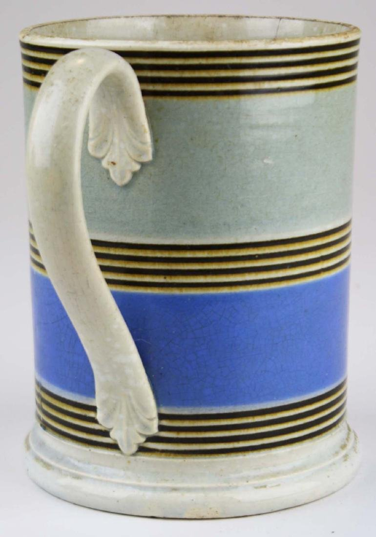 early 19th c mocha tankard - 2