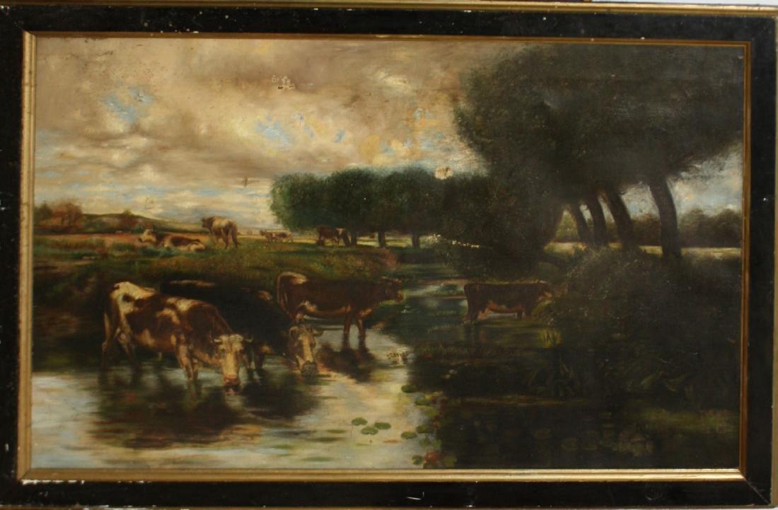 E Kirby 19th c pastoral scene