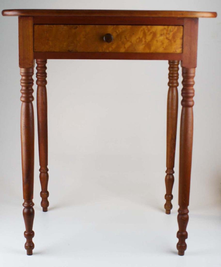 early 19th c VT cherry & birdseye maple stand