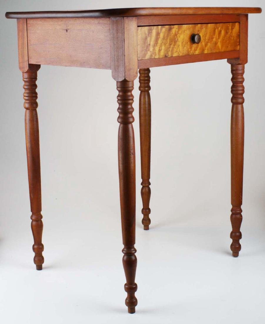 early 19th c VT cherry & birdseye maple stand - 2