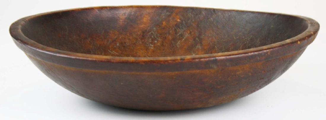 early 19th c birdseye maple turned bowl