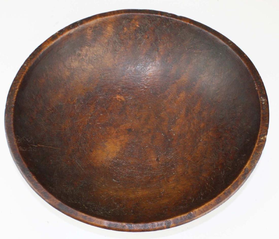 early 19th c birdseye maple turned bowl - 2