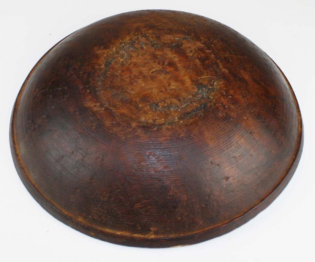 early 19th c birdseye maple turned bowl - 4