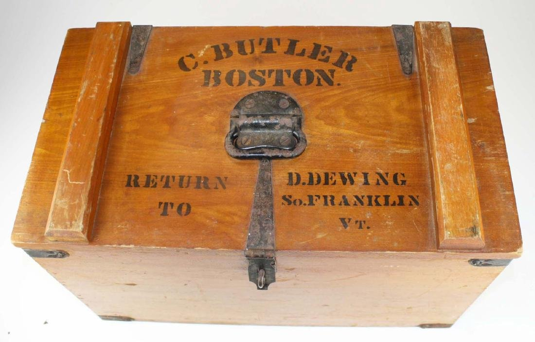 early 20th c Vermont butter shipping crate