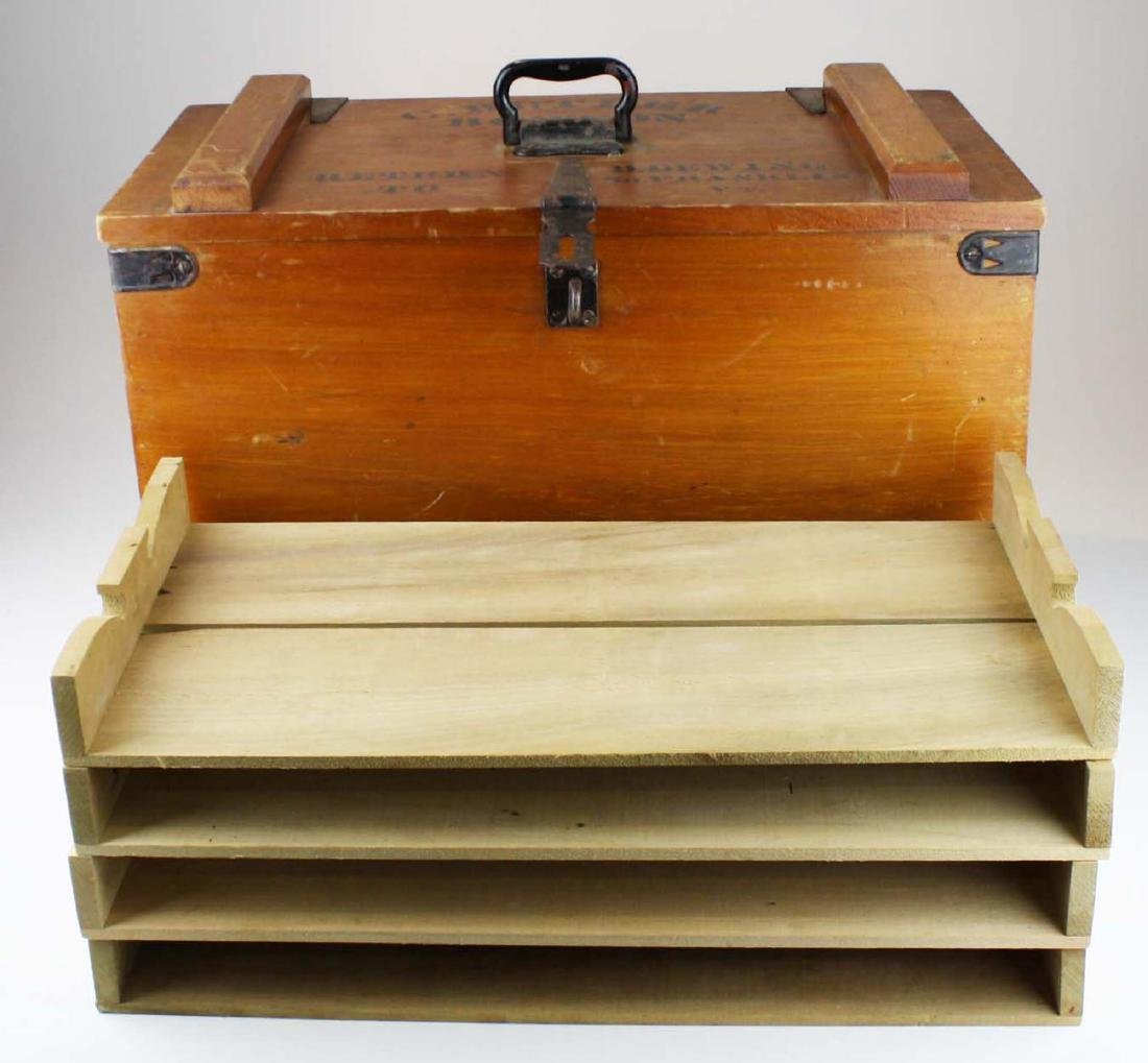 early 20th c Vermont butter shipping crate - 3