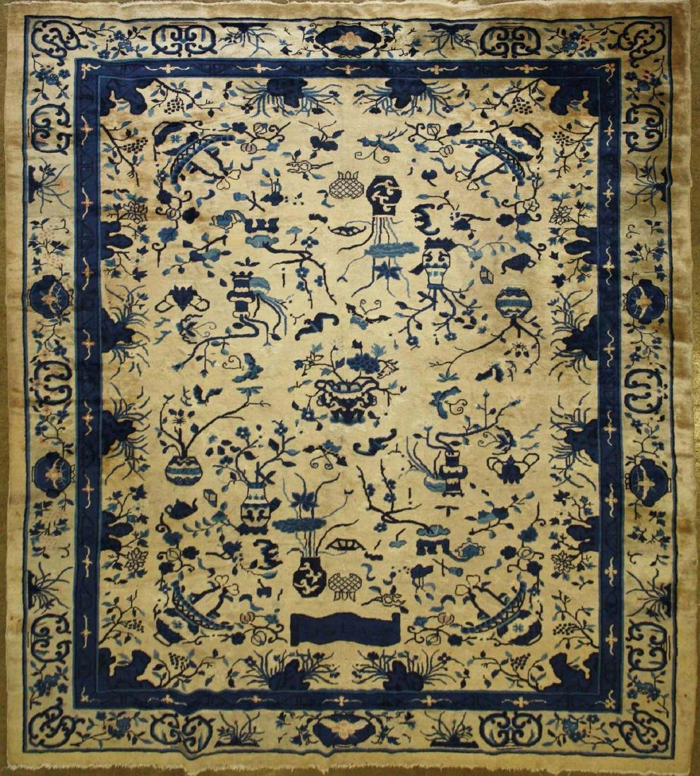 early 20th c Chinese blue & white main carpet