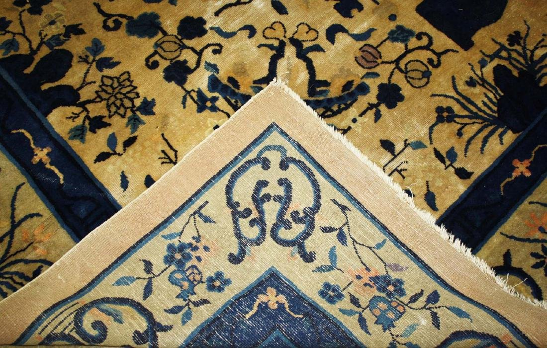 early 20th c Chinese blue & white main carpet - 3