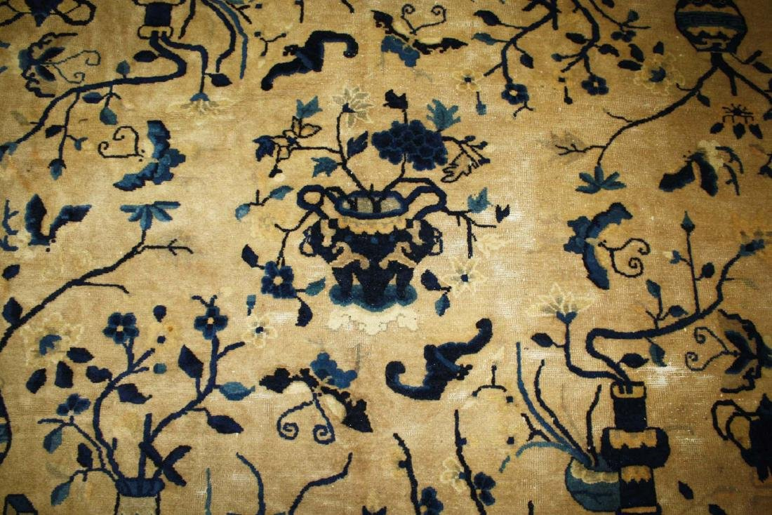 early 20th c Chinese blue & white main carpet - 4