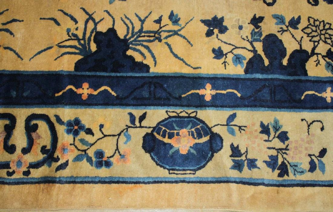 early 20th c Chinese blue & white main carpet - 5