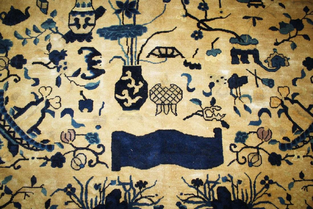 early 20th c Chinese blue & white main carpet - 6