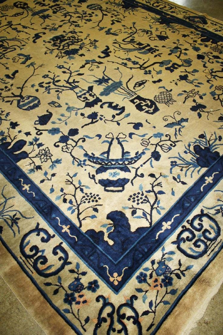 early 20th c Chinese blue & white main carpet - 7