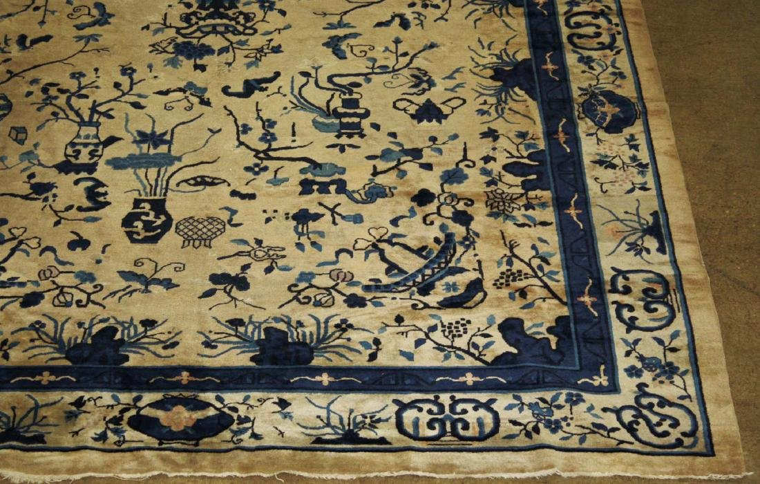 early 20th c Chinese blue & white main carpet - 8