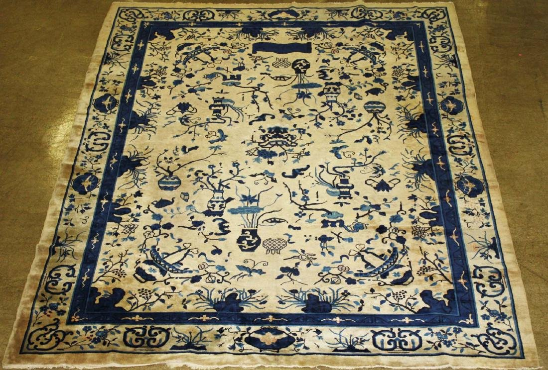 early 20th c Chinese blue & white main carpet - 9
