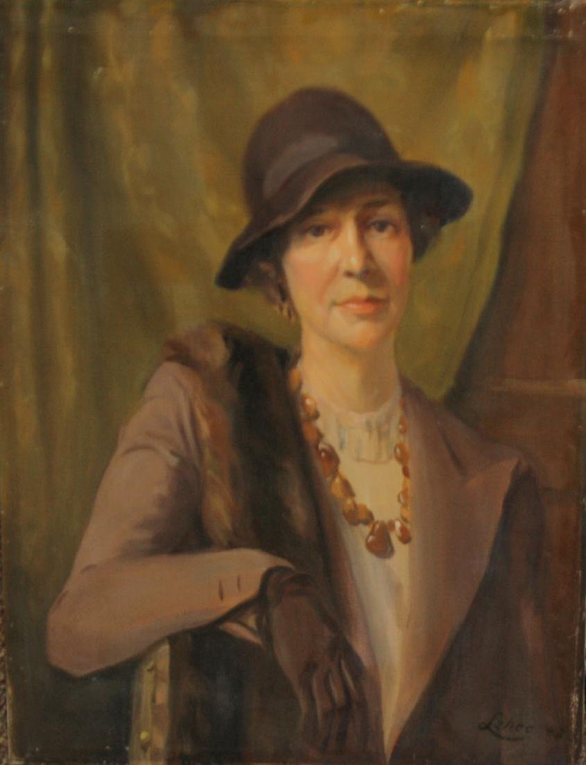 Arnold W. Lahee (VT 1888-1976) Woman in brown