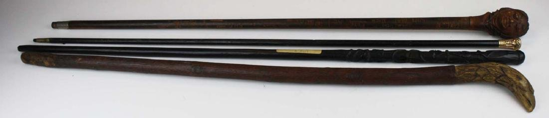 Dartmouth, blackthorn, eagle, gold plated canes