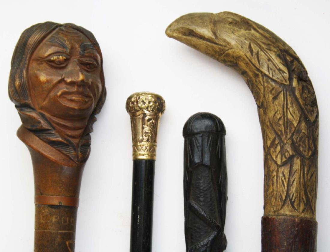 Dartmouth, blackthorn, eagle, gold plated canes - 2