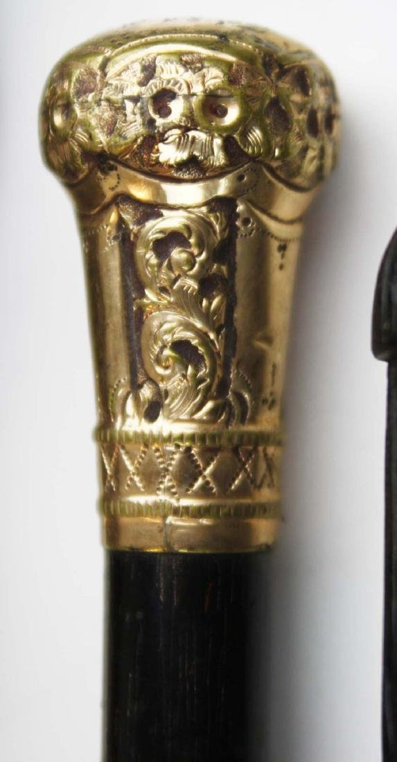 Dartmouth, blackthorn, eagle, gold plated canes - 3