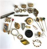 Large lot of Victorian gold  vintage jewelry