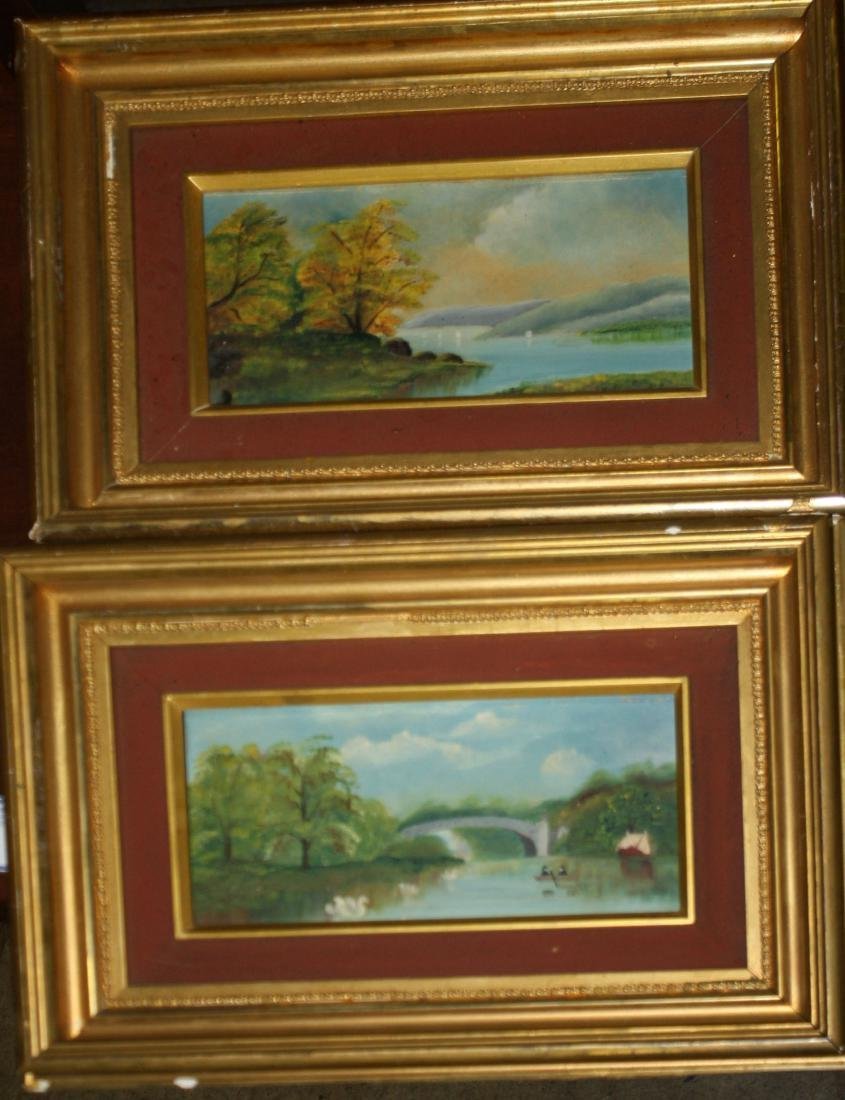 Pair of small Hudson River School Scenes