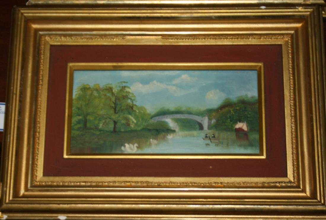 Pair of small Hudson River School Scenes - 3