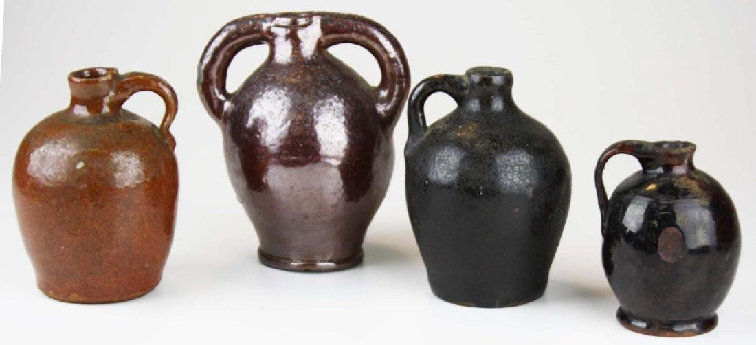 4 small early 19th c stoneware ovoid jugs - 5