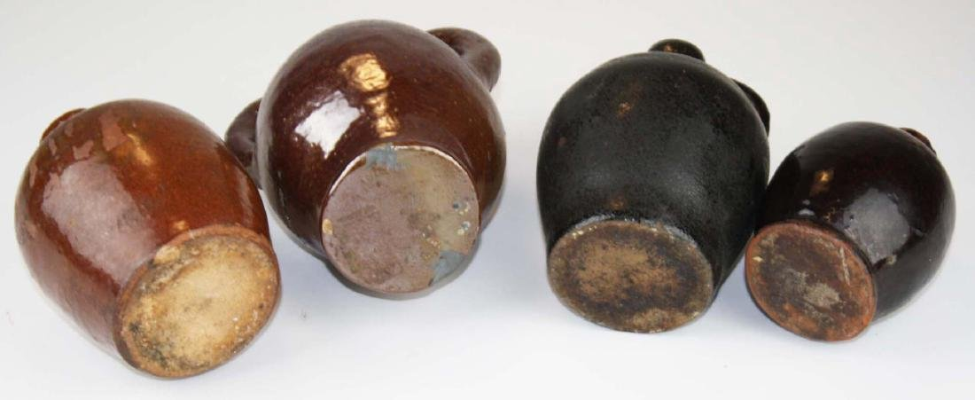 4 small early 19th c stoneware ovoid jugs - 6