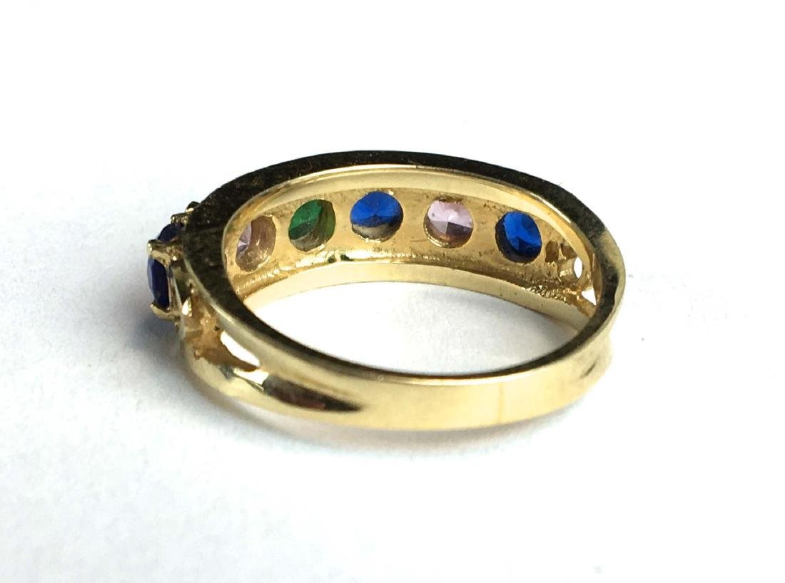 14k y.g multi stone ladies ring - 2