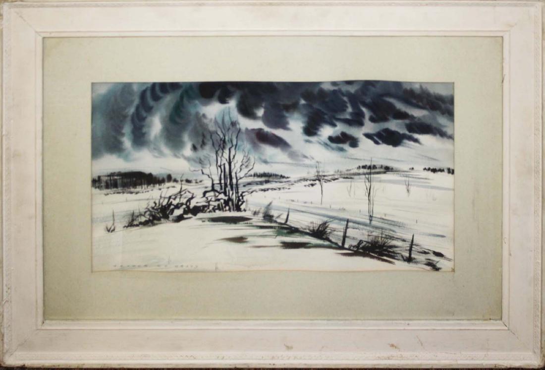 Arthur K D Healy (VT 1902-1978) Winter Road no. 2