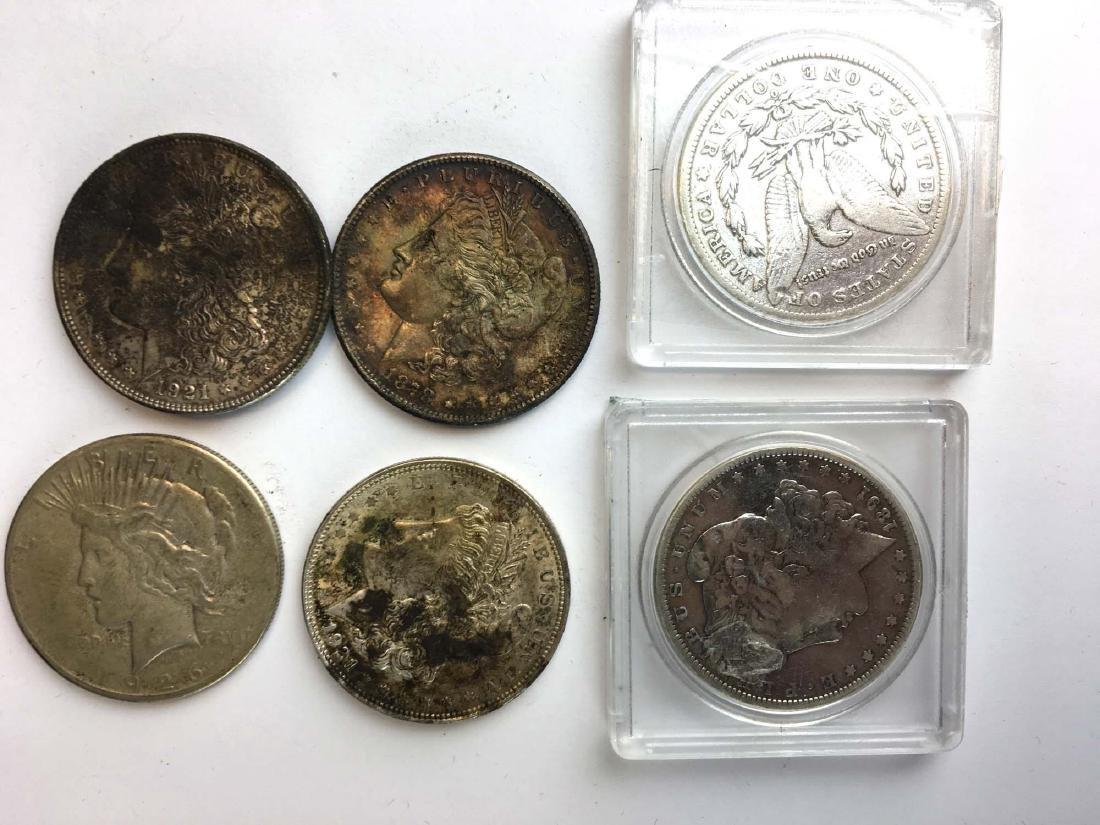 6 US silver dollars - 2