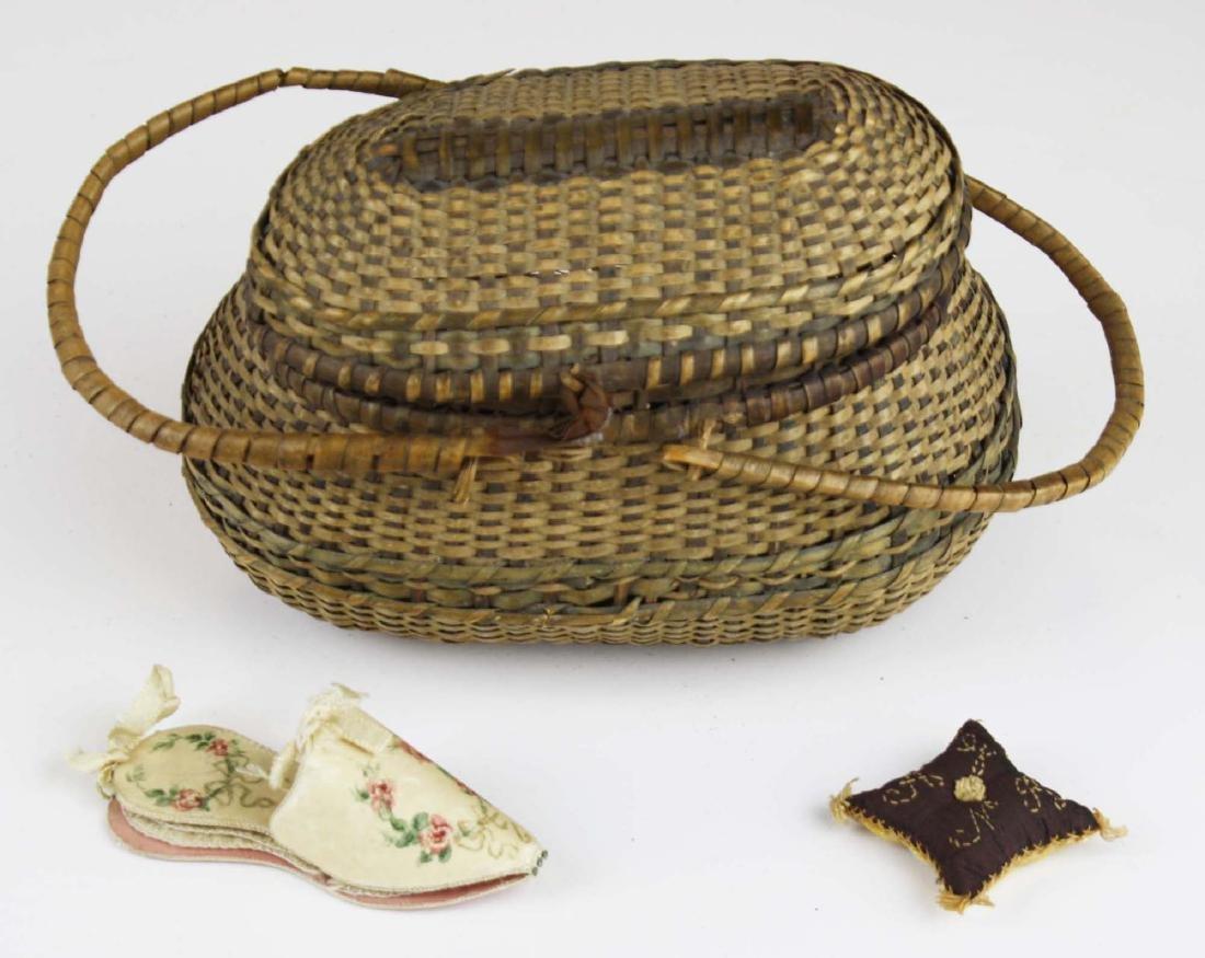ca 1800 maternity, wedding shoe pin cushions