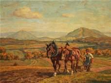 Erich Zeyer (German 1903-1960) Pastoral