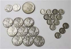 lot of US silver coins including Walking Liberty
