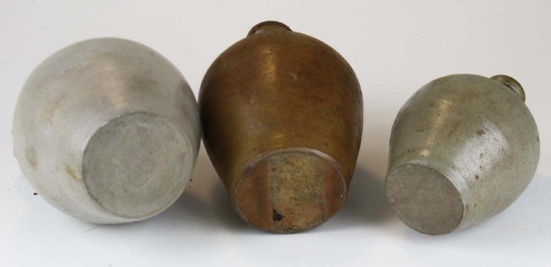 3 small early 19th c ovoid stoneware jugs - 5