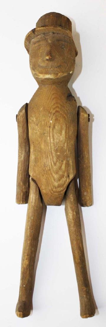 late 19th c jointed wooden limberjack - 4