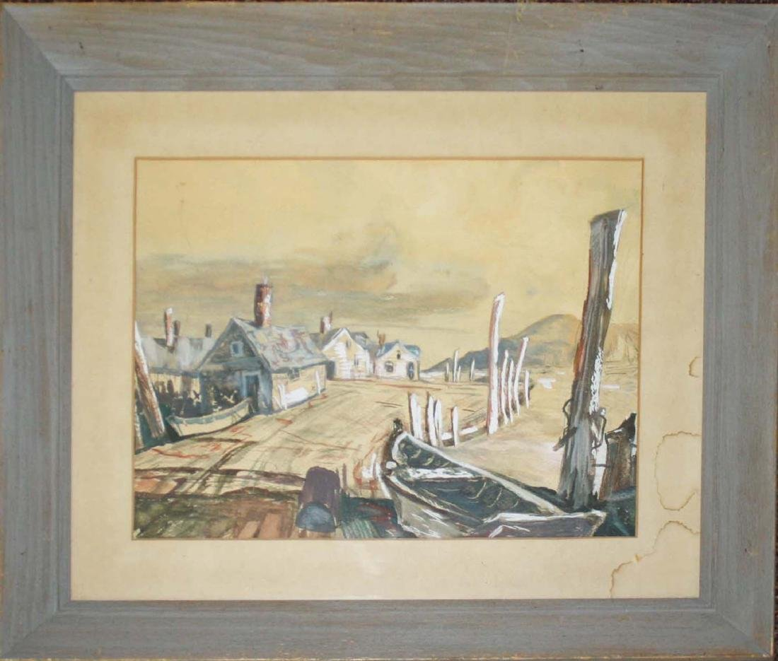 unsigned Rockport school watercolor