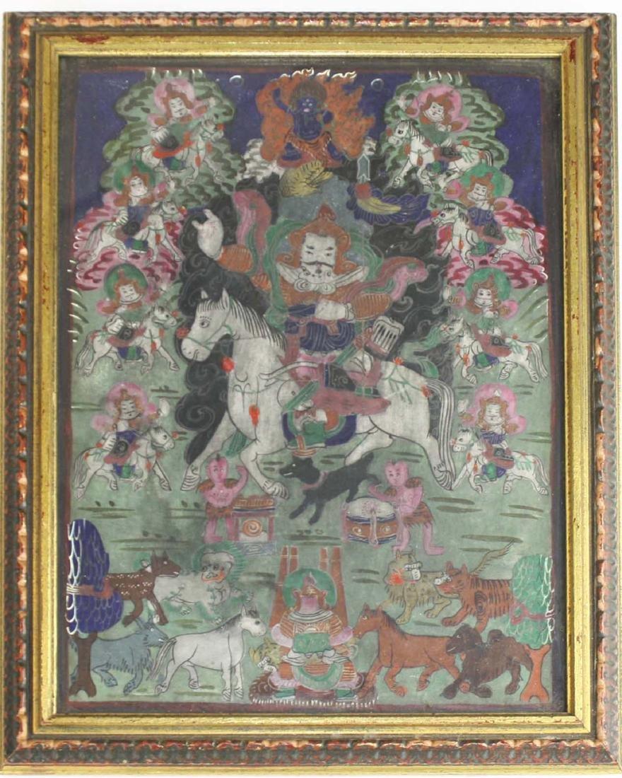 early 20th c Tibetan miniature thangka