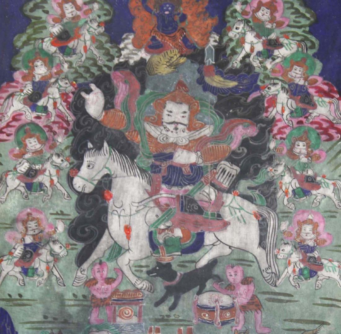 early 20th c Tibetan miniature thangka - 2