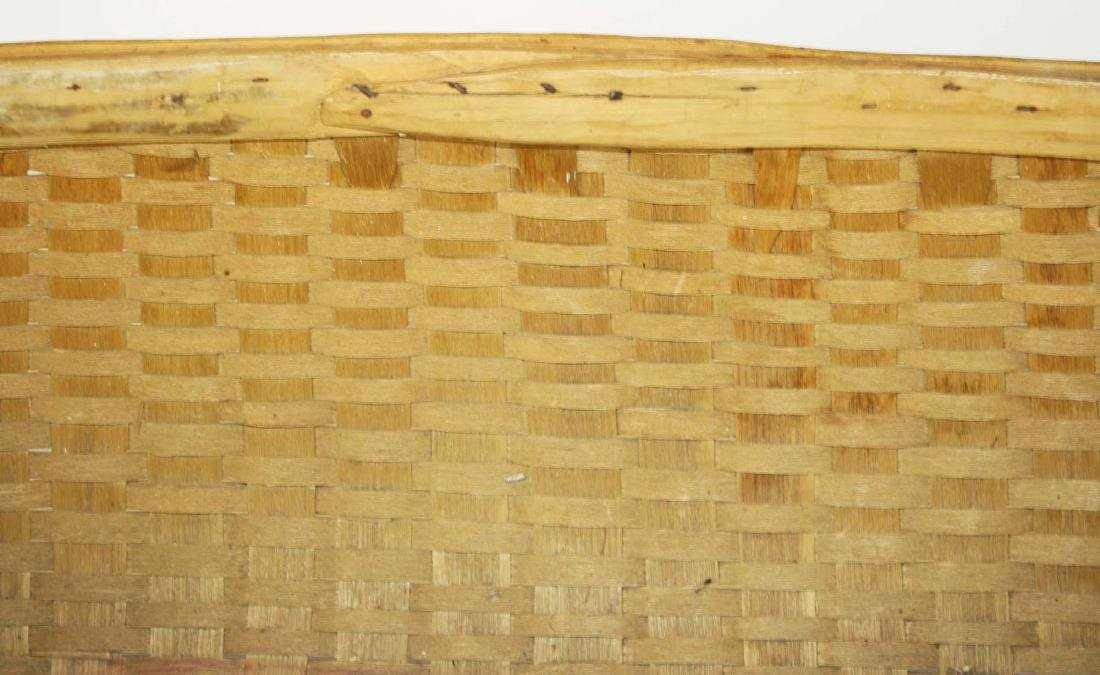 early 20th c double handled laundry basket - 3