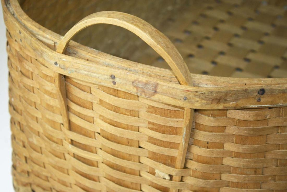 early 20th c double handled laundry basket - 4