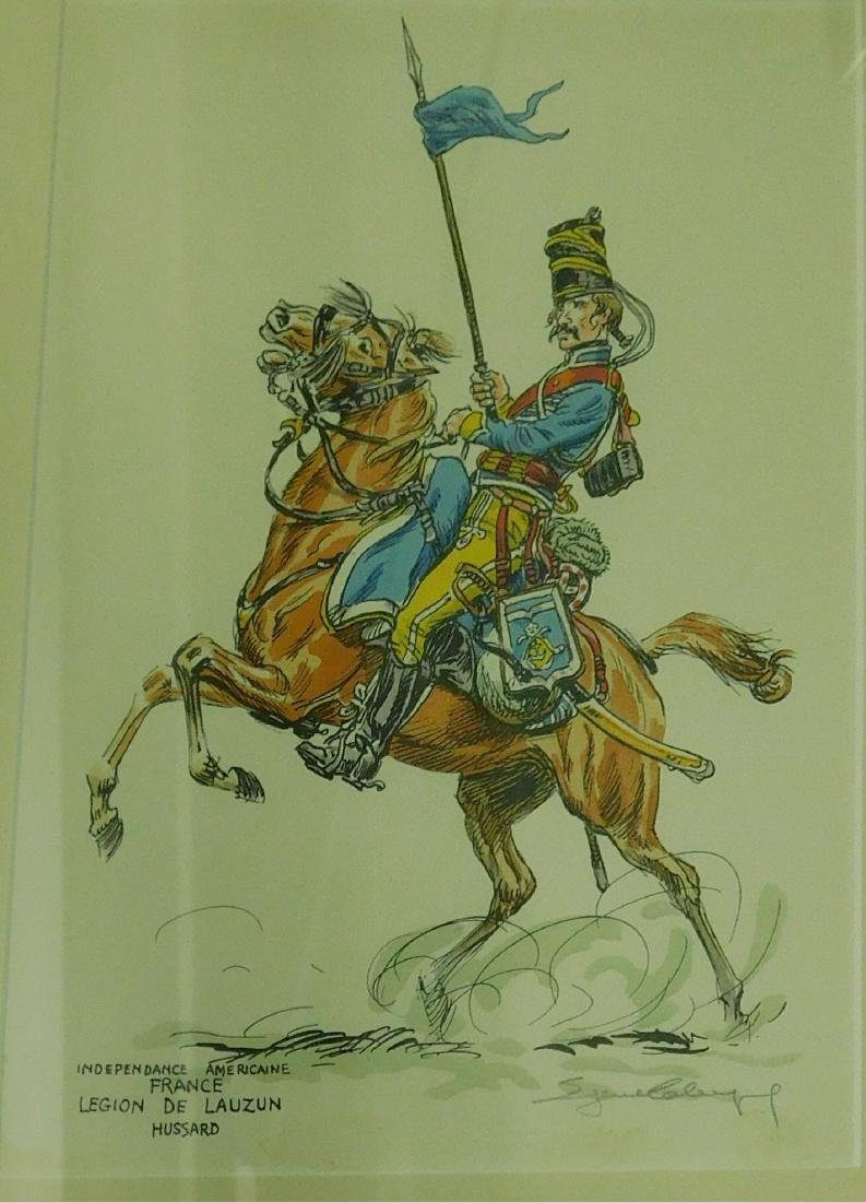 Five French Cavalry prints - 6