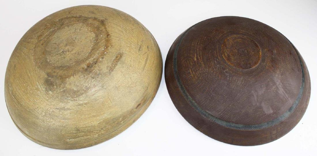 early 19th c woodenware bowls, butter molds - 3
