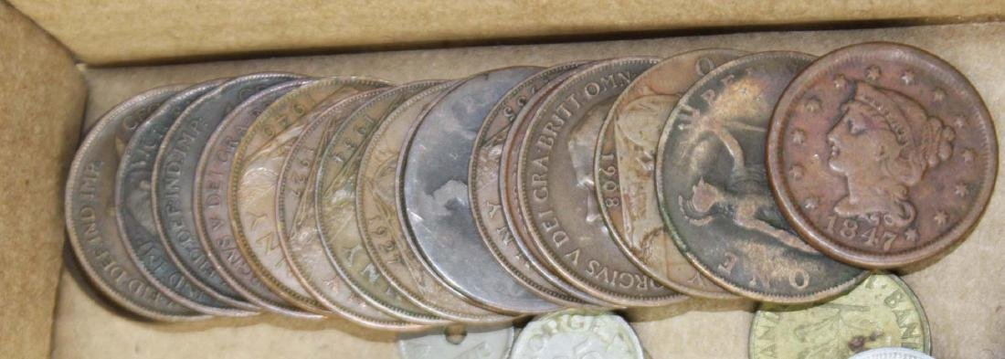 lot of foreign and US coins and paper currency - 3