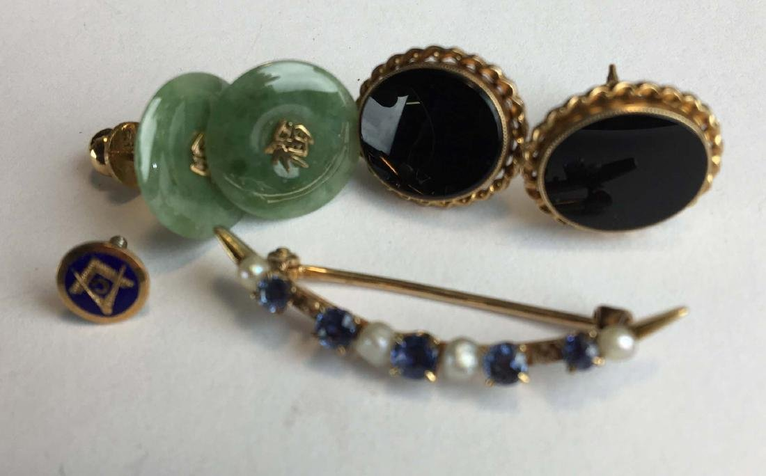 Group of 14k yellow gold jewelry