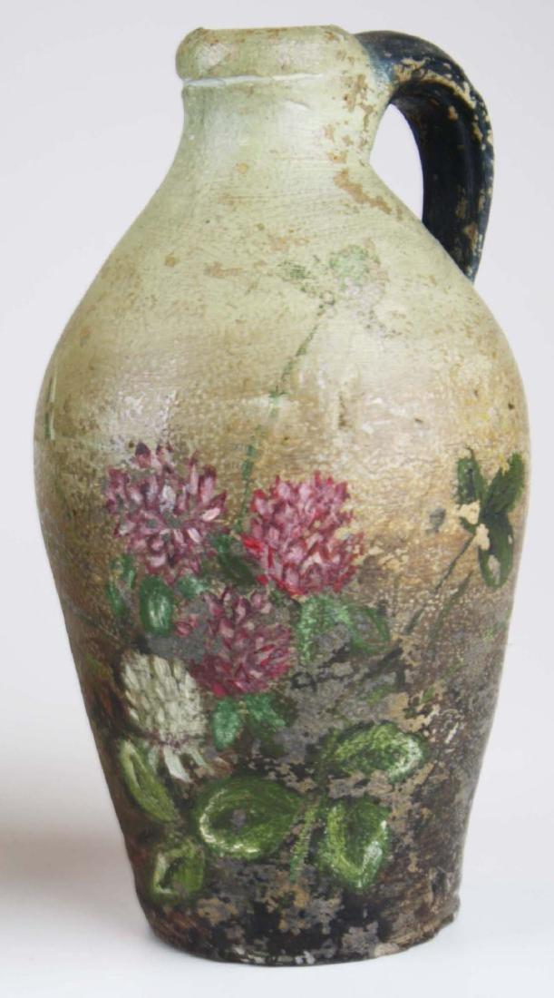 4 small early ovoid stoneware jugs - 4