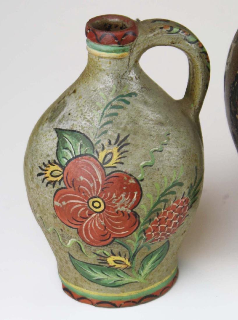 4 small early ovoid stoneware jugs - 6