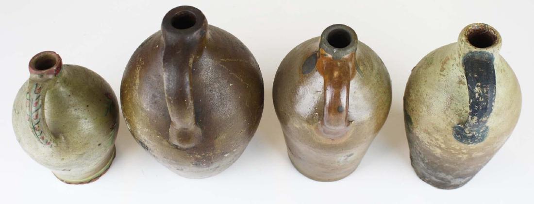 4 small early ovoid stoneware jugs - 7