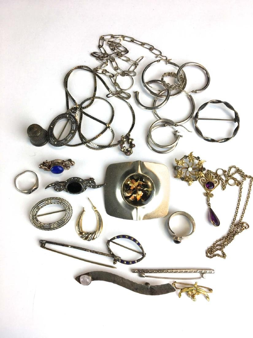 Group of Various sterling & vintage jewelry