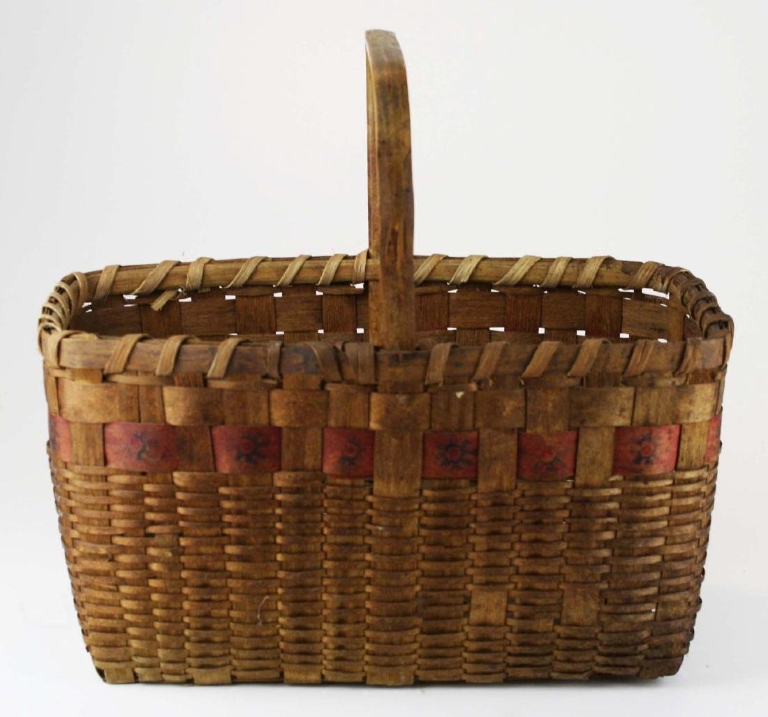 late 19th c Northeastern Woodlands basket